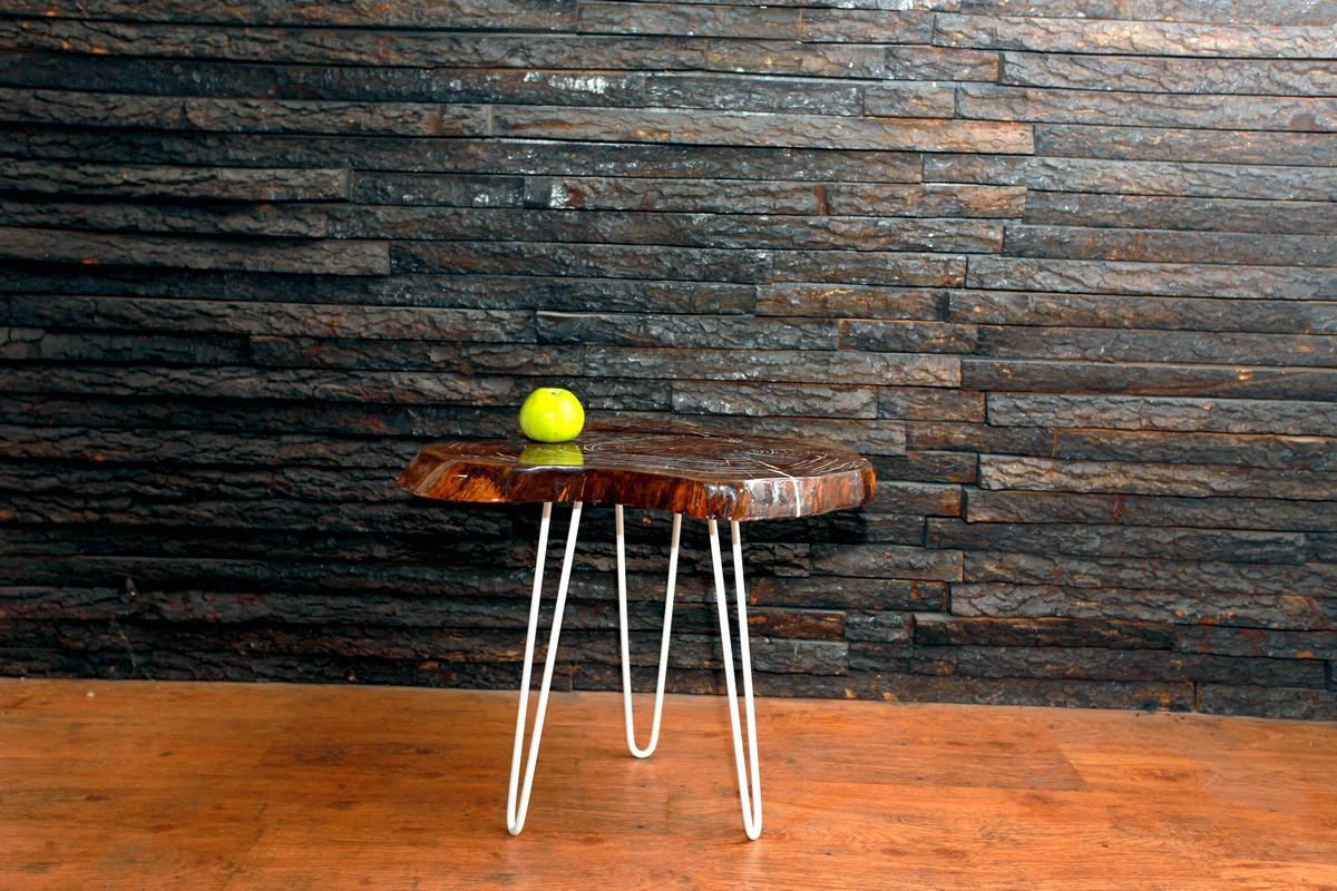 Столик из спила черного ореха Live Edge Nature Series