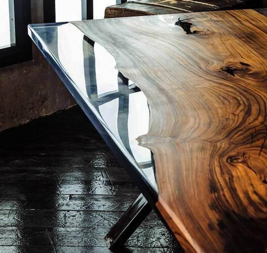 Эксклюзивные столы из полимера Live Edge