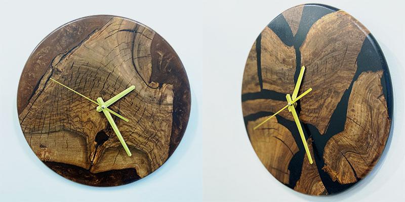 Настенные часы из натурального дерева