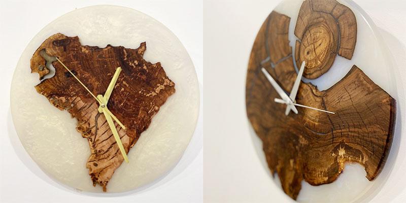 Дизайнерские часы с эпоксидной смолой