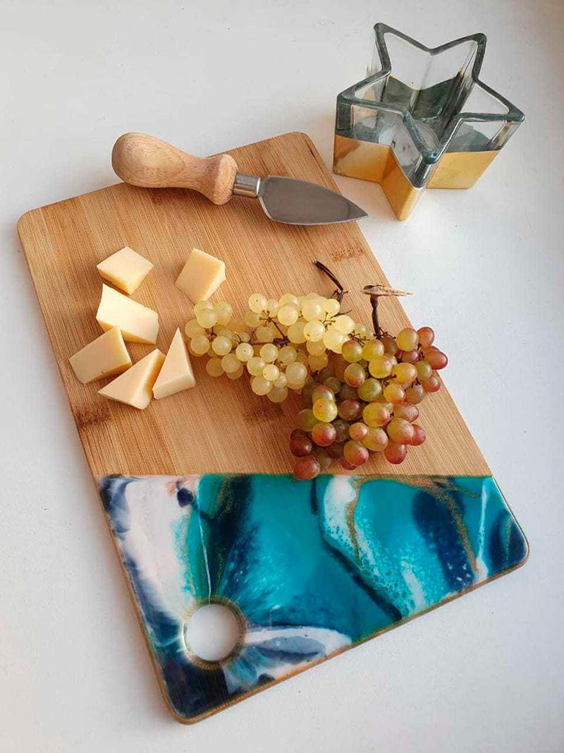 Посуда декор из эпоксидной смолы
