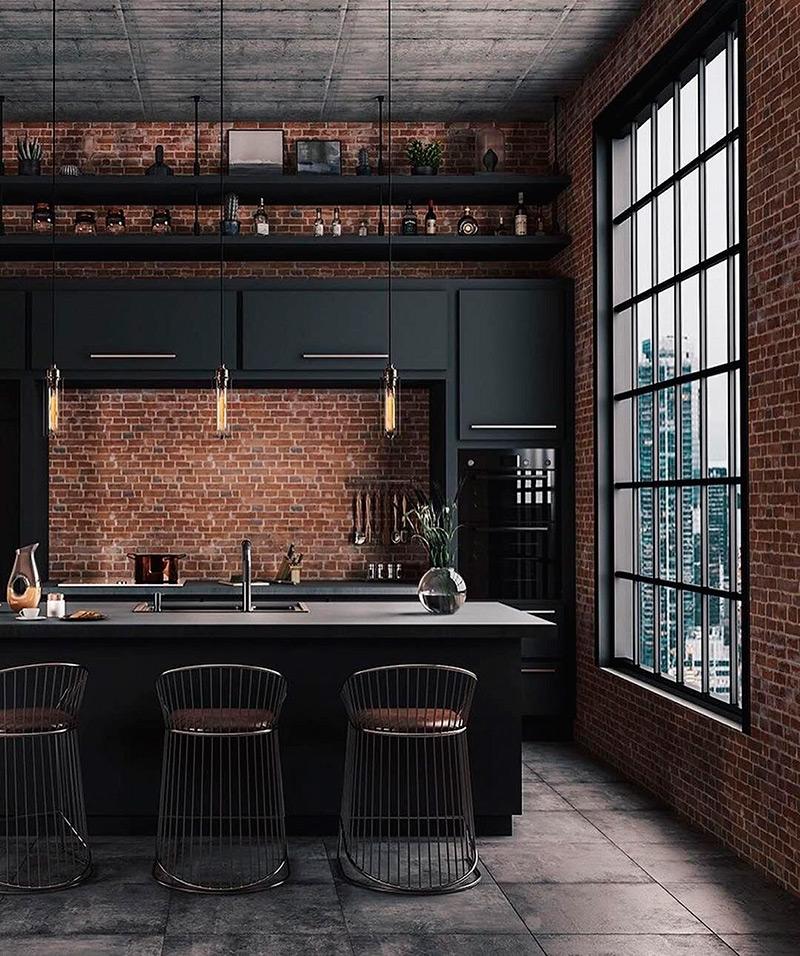 Кухня в стиле лофт смотреть фото