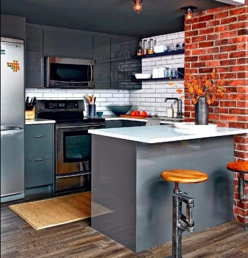 Кухня лофт Фото